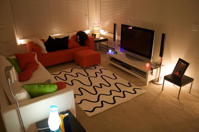 Decorate around television